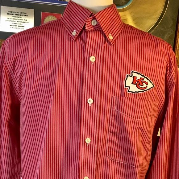 kc chiefs button down shirt